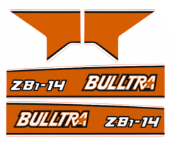 Motorkap sticker Kubota B1-14