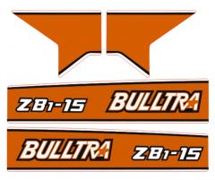 Motorkap sticker Kubota Bulltra B1-15