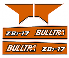 Motorkap sticker Kubota Bulltra B1-17