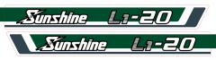 Motorkap sticker Kubota Sunshine L1-20