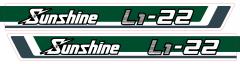 Motorkap sticker Kubota Sunshine L1-22