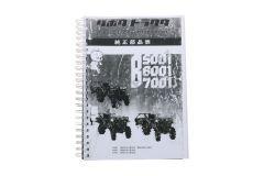 Kubota B5001, B6001, B7001 Onderdelen catalogus met technische tekeningen