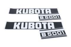 Motorkap sticker set Kubota B5001