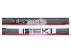 Motorkap Sticker set Iseki TL2300