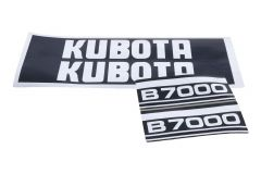 Motorkap Sticker set Kubota B7000