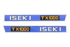 Motorkap sticker set Iseki TX1000