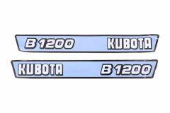 Motorkap sticker set Kubota B1200