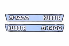 Motorkap sticker set Kubota B1400