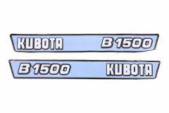 Motorkap sticker set Kubota B1500