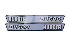 Motorkap sticker set Kubota B1600