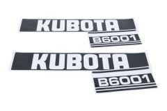 Motorkap sticker set Kubota B6001