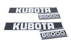 Motorkap sticker set Kubota B6000