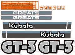 Motorkap sticker Kubota GT3