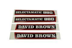 Motorkap sticker David Brown 880 Selectamatic