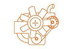 Kubota motor V2203, Kubota, Bobcat, Case, Schaffer